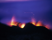 Eruptions of Stromboli Volcano, Aeolian Islands, Italy  Mediterranean Sea   Explosions of magma     UNESCO World Heritage Site