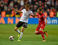 01.09.2017, Football WM-Qualifikation, 7. match day, Tschechien - Germany, in Prag, stadium Eden.  Thomas Mueller (Germany)  -  Filip Novak (Tschechien)  *** Local Caption *** +++ NED + SUI out +++<br /> Contact: +49-40-22 63 02 60 , info@pixathlon.de