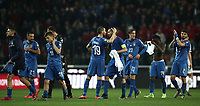 Football: Euro 2020 Group J qualifying football match Italy vs Finland at the Friuli Stadium in Udine on march  23, 2019<br /> Italy's players celebrate after winning 2-0 the Euro 2020 qualifying football match between Italy and Finland at the Friuli Stadium in Udine, on march 23, 019<br /> UPDATE IMAGES PRESS/Isabella Bonotto