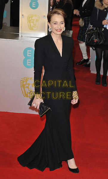 LONDON, ENGLAND - FEBRUARY 08: Dame Kristin Scott Thomas attends the EE British Academy Film Awards 2015, Royal Opera House, Covent Garden, on Sunday February 08, 2015 in London, England, UK. <br /> CAP/CAN<br /> &copy;Can Nguyen/Capital Pictures