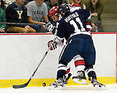 Brendan Rempel (Harvard - 12), Trent Ruffolo (Yale - 11) - The Yale University Bulldogs defeated the Harvard University Crimson 5-1 on Saturday, November 3, 2012, at Bright Hockey Center in Boston, Massachusetts.