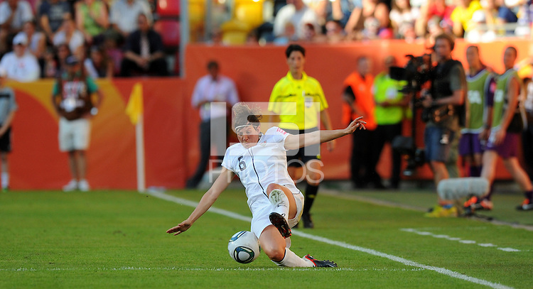 Amy Le Peilbet of team USA during the FIFA Women's World Cup at the FIFA Stadium in Dresden, Germany on June 28th, 2011.
