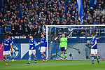 16.03.2019, VELTINS Arena, Gelsenkirchen, Deutschland, GER, 1. FBL, FC Schalke 04 vs. RB Leipzig<br /> <br /> DFL REGULATIONS PROHIBIT ANY USE OF PHOTOGRAPHS AS IMAGE SEQUENCES AND/OR QUASI-VIDEO.<br /> <br /> im Bild Schalke um Alexander Nübel / Nuebel (#35 Schalke) enttäuscht / enttaeuscht / traurig nach 0-1 Leipzig<br /> <br /> Foto © nordphoto / Kurth