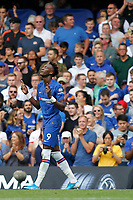 GOAL - Tammy Abraham of Chelsea is the scorer during the Premier League match between Chelsea and Sheff United at Stamford Bridge, London, England on 31 August 2019. Photo by Carlton Myrie / PRiME Media Images.