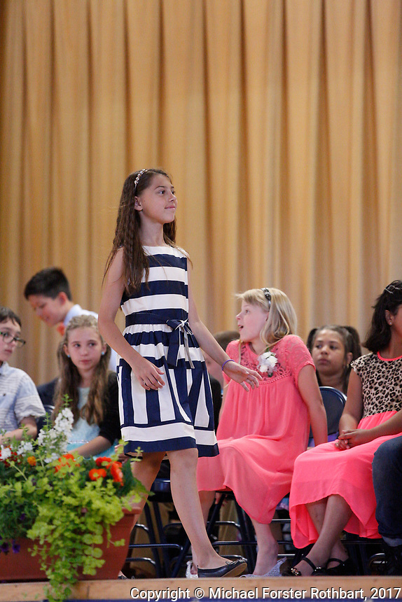 The Oneonta Greater Plains elementary school fifth grade awards ceremony, on June 21, 2017.<br /> &copy; Michael Forster Rothbart Photography<br /> www.mfrphoto.org &bull; 607-267-4893<br /> 34 Spruce St, Oneonta, NY 13820<br /> 86 Three Mile Pond Rd, Vassalboro, ME 04989<br /> info@mfrphoto.org<br /> Photo by: Michael Forster Rothbart<br /> Date:  6/21/2017<br /> File#:  Canon &mdash; Canon EOS 5D Mark III digital camera frame C19334
