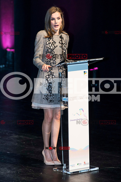 """Queen Letizia during the closing of International Congress """"Woman and Disability"""" at congress center """"Lienzo Norte"""" in Avila, Spain. March 01, 2017. (ALTERPHOTOS/BorjaB.Hojas)"""
