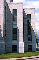 Vancouver: City Hall--Detail. Modernistic Frieze above each block.  Photo '86.