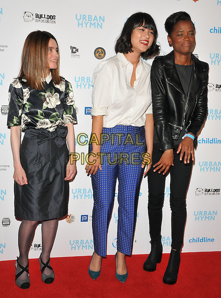 Shirley Henderson, Isabella Laughland and Letitia Wright at the &quot;Urban Hymn&quot; gala film premiere, Curzon Mayfair cinema, Curzon Street, London, England, UK, on Tuesday 27 September 2016.<br /> CAP/CAN<br /> &copy;CAN/Capital Pictures