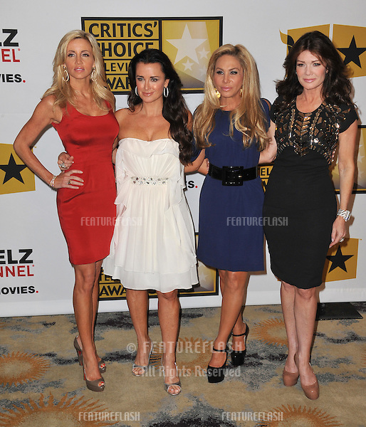 "Camille Grammer, Kyle Richards, Adrienne Maloof and Lisa VanderPump - stars of ""The Real Housewives of Beverly Hills"" - at the inaugural Critics' Choice Television Awards, presented by the Broadcast Television Journalists Association, at the Beverly Hills Hotel..June 20, 2011  Beverly Hills, CA.Picture: Paul Smith / Featureflash"