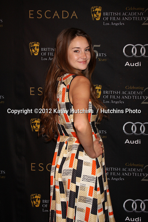 LOS ANGELES - JAN 14:  Shailene Woodley arrives at  the BAFTA Award Season Tea Party 2012 at Four Seaons Hotel on January 14, 2012 in Beverly Hills, CA