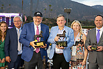 November 2, 2019: Connections for Bricks and Mortar, winner of the Longines Breeders' Cup Turf on Breeders' Cup World Championship Saturday at Santa Anita Park on November 2, 2019: in Arcadia, California. Bill Denver/Eclipse Sportswire/CSM