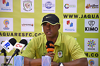 MONTERIA - COLOMBIA, 06-08-2018: Willy Rodriguez, técnico de Jaguares, durante rueda  de prensa después del partido entre Jaguares de Córdoba y Leones F.C. por la fecha 3 de la Liga Águila II 2018 jugado en el estadio Municipal de Montería. / Willy Rodriguez, coach of Jaguares, during press conference after match between Jaguares of Cordoba and Leones F.C. for the date 3 of the Liga Aguila II 2018 at the Municipal de Monteria Stadium in Monteria city. Photo: VizzorImage / Andres Felipe Lopez / Cont