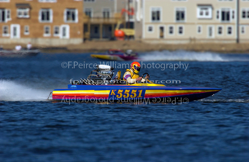 K-5551, K Racing Runabout..Lake Hopatcong, NJ USA 17 May, 2003.©F. Peirce Williams 2003..F. Peirce Williams .photography.P.O.Box 455 Eaton, OH 45320.p: 317.358.7326  e: fpwp@mac.com.