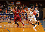 BROOKING, SD - NOVEMBER 13:  George Marshall #11 from South Dakota State drives against Warren Gordon #5 from Chadron State in the first half of their game Friday night at Frost Arena in Brookings. (Photo by Dave Eggen/Inertia)