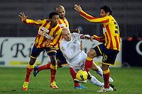 """Juan Guillermo CUADRADO Lecce, Tommaso ROCCHI Lazio, Massimo ODDO Lecce.Lecce 10/12/2011 Stadio """"Via del MAre"""".Football Calcio Serie A 2011/2012.Lecce Vs Lazio.Foto Insidefoto ."""