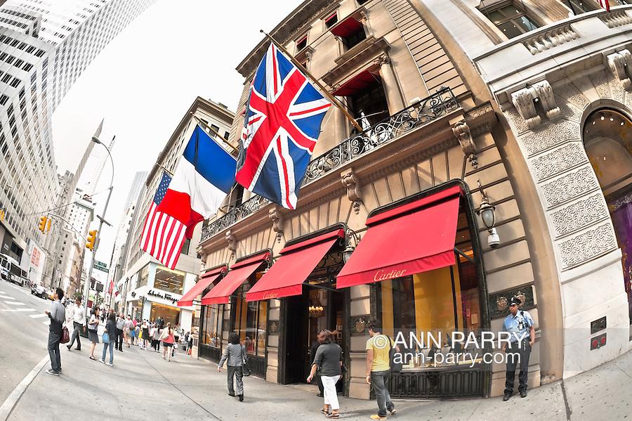 Cartier jewelry store, Fifth Avenue, Manhattan, New York, USA, on June 27, 2011.