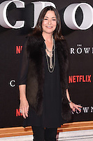 """Amanda Donohoe<br /> at the World Premiere of the Netflix series """"The Crown"""" at the Odeon Leicester Square, London.<br /> <br /> <br /> ©Ash Knotek  D3192  01/11/2016"""