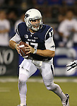 Nevada quarterback Cody Fajardo (17) competes against Boise State during the first half of an NCAA college football game in Reno, Nev, on Saturday, Oct. 4, 2014. Boise State won 51-46. (AP Photo/Cathleen Allison)