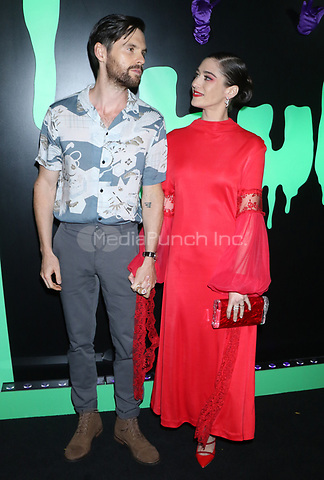NEW YORK, NY- OCTOBER 4: Tom Riley and Lizzy Caplan at the Hulu kick off celebrating the Halloween season at Huluween HQ in New York City on October 4, 2019. Credit: RW/MediaPunch