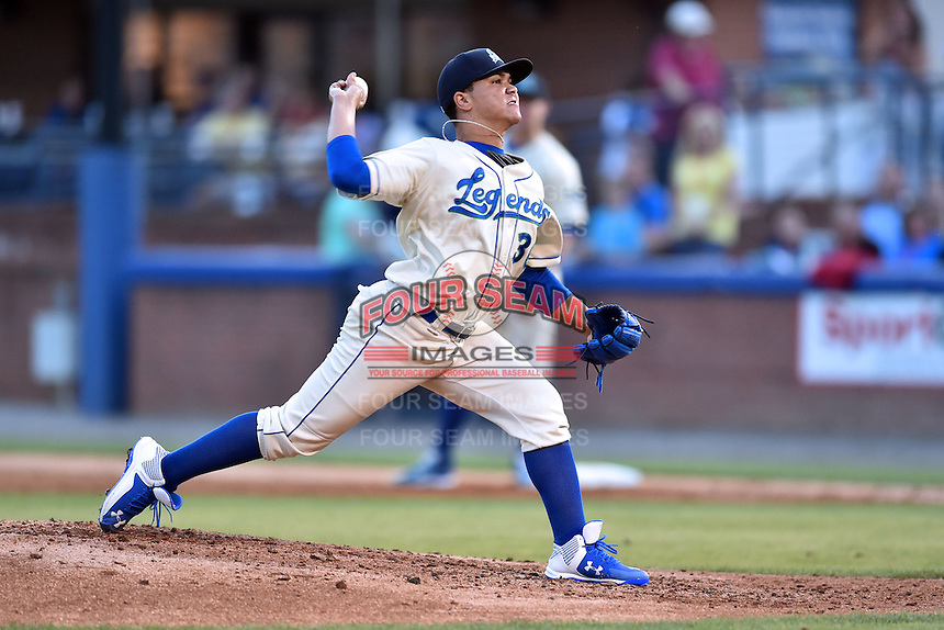 Lexington Legends pitcher Pedro Fernandez (30) delivers a pitch during the South Atlantic League All Star Game on June 23, 2015 in Asheville, North Carolina. The North Division defeated the South 7-5(Tony Farlow/Four Seam Images)
