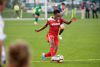 Kansas City, MO - Saturday May 27, 2017: Francisca Ordega during a regular season National Women's Soccer League (NWSL) match between FC Kansas City and the Washington Spirit at Children's Mercy Victory Field.
