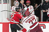 Viktor Liljegren (RPI - 12), Lewis Zerter-Gossage (Harvard - 77) - The Harvard University Crimson defeated the visiting Rensselaer Polytechnic Institute Engineers 5-2 in game 1 of their ECAC quarterfinal series on Friday, March 11, 2016, at Bright-Landry Hockey Center in Boston, Massachusetts.