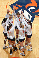 SAN ANTONIO, TX - SEPTEMBER 4, 2011: The West Virginia University Mountaineers vs. the University of Texas at San Antonio Roadrunners at the UTSA Convocation Center. (Photo by Jeff Huehn)