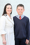 Conor Maguire with his sponsor Liza Lawrence at Donacarney NS Confirmation in The Star of the Sea Church...Photo NEWSFILE/Jenny Matthews.(Photo credit should read Jenny Matthews/NEWSFILE)....This Picture has been sent you under the condtions enclosed by:.Newsfile Ltd..The Studio,.Millmount Abbey,.Drogheda,.Co Meath..Ireland..Tel: +353(0)41-9871240.Fax: +353(0)41-9871260.GSM: +353(0)86-2500958.email: pictures@newsfile.ie.www.newsfile.ie.FTP: 193.120.102.198.