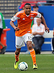 Houston Dynamo midfielder Ricardo Clark (13) in action during the game between the FC Dallas and the Houston Dynamo at the FC Dallas Stadium in Frisco,Texas.