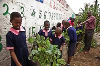 Nairobi, June 2010 -  The St. Michael's children educational center in Mathare provides education and basic health care for hundreds of children.
