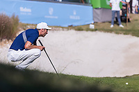 Ross Fisher (ENG) on the 18th during the third round of the Mutuactivos Open de Espana, Club de Campo Villa de Madrid, Madrid, Madrid, Spain. 05/10/2019.<br /> Picture Hugo Alcalde / Golffile.ie<br /> <br /> All photo usage must carry mandatory copyright credit (© Golffile | Hugo Alcalde)