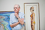 Wayne Thiebaud in his Sacramento, California gallery on September 9, 2010.