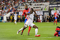 Harrison, NJ - Friday Sept. 01, 2017: Jozy Altidore, Kendall Waston during a 2017 FIFA World Cup Qualifier between the United States (USA) and Costa Rica (CRC) at Red Bull Arena.