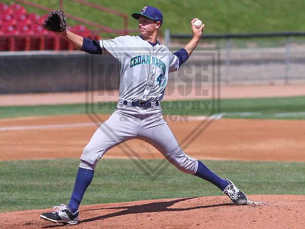 APPLETON - April 2015:  Cedar Rapids Kernels pitcher Stephen Gonsalves (47) during a Midwest League game against the Wisconsin Timber Rattlers on April 23rd, 2015 at Fox Cities Stadium in Appleton, Wisconsin. (Photo Credit: Brad Krause)
