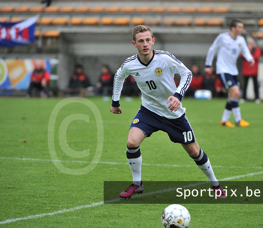 Scotland U19 - Belgium U19 : John Herron.foto DAVID CATRY / Nikonpro.be
