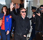 Paul McCartney, Nancy Shevell, Tokyo, Japan, April 23, 2017 : Sir Paul McCartney and his wife Nancy Shevell arrive at Tokyo International Airport in Tokyo, Japan, on April 23, 2017.