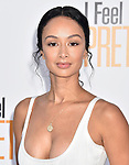 WESTWOOD, CA - APRIL 17: Draya Michele arrives at the Premiere Of STX Films' 'I Feel Pretty' at Westwood Village Theatre on April 17, 2018 in Westwood, California.
