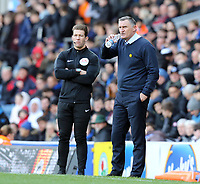 Blackburn Rovers manager Tony Mowbray matches on from the technical area<br /> <br /> Photographer Rich Linley/CameraSport<br /> <br /> The EFL Sky Bet Championship - Blackburn Rovers v Preston North End - Saturday 9th March 2019 - Ewood Park - Blackburn<br /> <br /> World Copyright © 2019 CameraSport. All rights reserved. 43 Linden Ave. Countesthorpe. Leicester. England. LE8 5PG - Tel: +44 (0) 116 277 4147 - admin@camerasport.com - www.camerasport.com