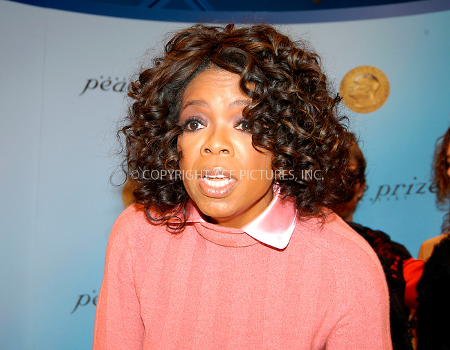 WWW.ACEPIXS.COM . . . . .  ... . . . . US SALES ONLY . . . . ...Oslo, Norway, December 11, 2004: Oprah Winfrey at a Nobel Peace Prize Concert press conference. Please byline: M. Delucci - FAMOUS - ACE PICTURES.... . . . .  ....Ace Pictures, Inc:  ..Alecsey Boldeskul (646) 267-6913 ..Philip Vaughan (646) 769-0430..e-mail: info@acepixs.com..web: http://www.acepixs.com