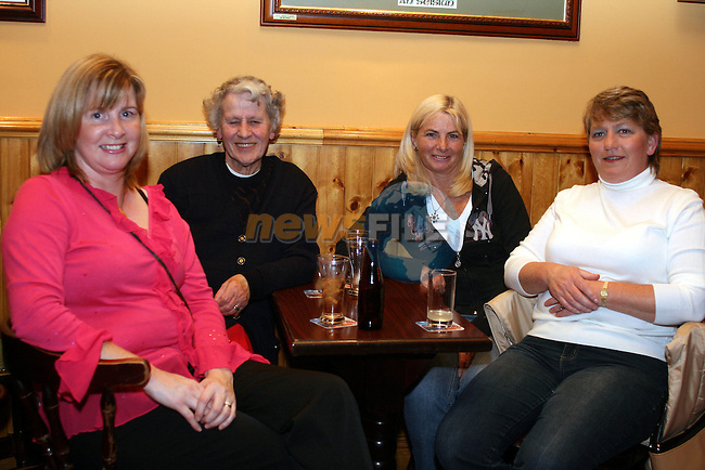 Kathleen Smullen, Betty Cumisky, Marian Marks and Ann Murray at the Duleek Senior Citizen Outing Committee Annual Auction in the Greyhound Pub, Duleek...Photo NEWSFILE/Jenny Matthews.(Photo credit should read Jenny Matthews/NEWSFILE)....This Picture has been sent you under the condtions enclosed by:.Newsfile Ltd..The Studio,.Millmount Abbey,.Drogheda,.Co Meath..Ireland..Tel: +353(0)41-9871240.Fax: +353(0)41-9871260.GSM: +353(0)86-2500958.email: pictures@newsfile.ie.www.newsfile.ie.FTP: 193.120.102.198.