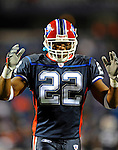 17 November 2008:  Buffalo Bills' running back Fred Jackson is pumped up prior to facing the Cleveland Browns at Ralph Wilson Stadium in Orchard Park, NY. The Browns defeated the Bills 29-27 in the Monday Night AFC matchup. *** Editorial Sales Only ****..Mandatory Photo Credit: Ed Wolfstein Photo