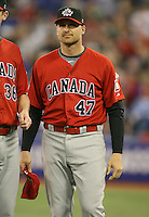 March 7, 2009:  Infielder Corey Koskie (47) of Canada during the first round of the World Baseball Classic at the Rogers Centre in Toronto, Ontario, Canada.  Team USA defeated Canada 6-5 in both teams opening game of the tournament.  Photo by:  Mike Janes/Four Seam Images