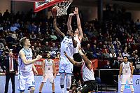 GRONINGEN - Basketbal, Donar - Feyenoord,  beker ,seizoen 2019-2020, 22-01-2020,  overgespeelde bekerwedstrijd, score /Donar speler Donte Thomas