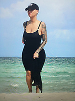 Amber Rose Sighted Miami Beach