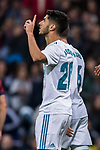 Marco Asensio Willemsen of Real Madrid celebrates during the La Liga 2017-18 match between Real Madrid and SD Eibar at Estadio Santiago Bernabeu on 22 October 2017 in Madrid, Spain. Photo by Diego Gonzalez / Power Sport Images