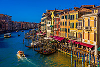 Overview of the Grand Canal, Venice, Italy.
