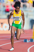 Rene Rhone of Baylor competes in 400 meter prelims during West Preliminary Track and Field Championships, Friday, May 29, 2015 in Austin, Tex. (Mo Khursheed/TFV Media via AP Images)