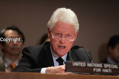 The Secretary-General and H.E. Mr. Bill Clinton, Secretary-General's Special Envoy for Haiti brief Member States informally on the situation in Haiti.