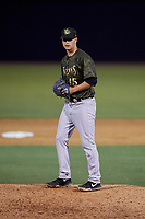 Tampa Tarpons relief pitcher Janson Junk (15) during a Florida State League game against the Daytona Tortugas on May 18, 2019 at George M. Steinbrenner Field in Tampa, Florida.  Daytona defeated Tampa 7-6.  (Mike Janes/Four Seam Images)