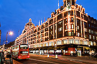 United Kingdom, London, Knightsbridge: Harrods Department Store at Christmas